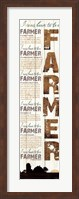 Framed I Was Born to be a Farmer - White