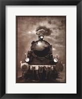 Framed Steam Engine Locomotive