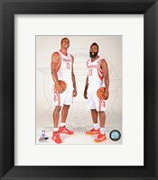 Framed James Harden & Dwight Howard 2013-14 Posed