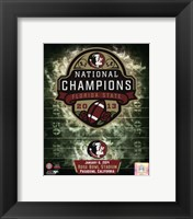 Framed Florida State Seminoles 2014 BCS National Champions Team Logo