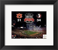 Framed 2014 BCS National Championship Florida State Seminoles vs. Auburn Tigers at the Rose Bowl