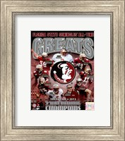 Framed Florida State University Seminoles All Time Greats Composite