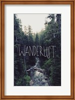 Framed Wanderlust Rainier Creek