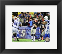 Framed Tom Brady 2013 Playoff Action