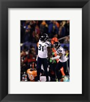 Framed Kam Chancellor & Earl Thomas Celebrate Chacellor's Interception Super Bowl XLVIII
