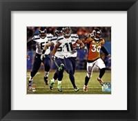 Framed Percy Harvin Running a Touchdown Super Bowl XLVIII