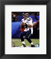 Framed Russell Wilson Super Bowl XLVIII