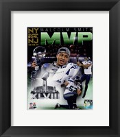 Framed Malcolm Smith Super Bowl XLVIII MVP Portrait Plus