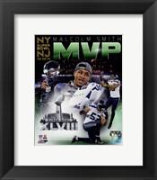 Framed Malcolm Smith Super Bowl XLVIII MVP Portrait Plus