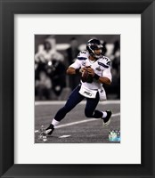 Framed Russell Wilson Super Bowl XLVIII Spotlight