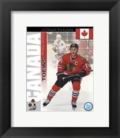 Framed Jonathan Toews- Canada Portrait Plus