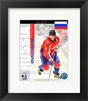 Framed Alex Ovechkin- Russia Portrait Plus