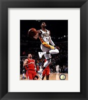 Framed Paul George 2013-14 in the air