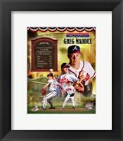 Framed Greg Maddux MLB Hall of Fame Legends Composite