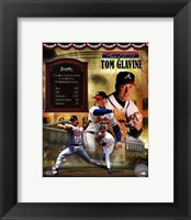 Framed Tom Glavine MLB Hall of Fame Legends Composite