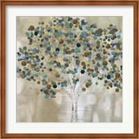 Framed Teal Tree
