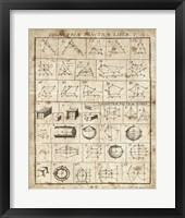 Geometric Chart I Framed Print