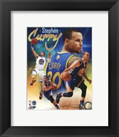Framed Stephen Curry 2014 Portrait Plus
