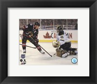 Framed Jonathan Toews 2014 NHL Stadium Series Action