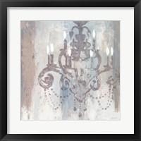 Candelabra Teal II Framed Print