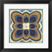 Framed Proud as a Peacock Tile III