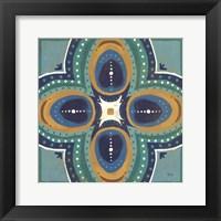 Framed Proud as a Peacock Tile IV