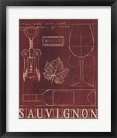 Wine Blueprint IV v Framed Print