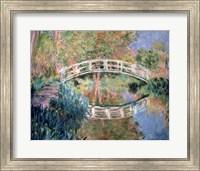Framed Japanese Bridge, Giverny, 1892