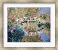 Framed Japanese Bridge, Giverny, 1892