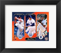 Framed Denny McLain, Jack Morris, & Justin Verlander Legacy Collection