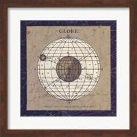 Framed Globe Blue