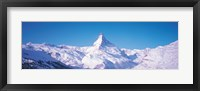 Framed Mt Matterhorn Valais Sunnegga Switzerland