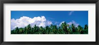 Framed Maldives with Clouds