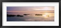 Framed Sunset over a lake, Chequamegon Bay, Lake Superior, Wisconsin, USA