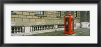 Framed Telephone booth at the roadside, London, England