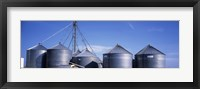 Framed Grain storage bins, Nebraska, USA