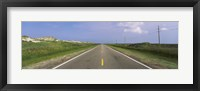 Framed Road passing through a landscape, North Carolina Highway 12, Cape Hatteras National Seashore, Outer Banks, North Carolina, USA