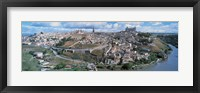 Framed Aerial view of Toledo Spain