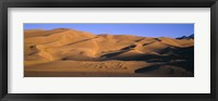 Framed Sand dunes in a desert, Great Sand Dunes National Monument, Alamosa County, Saguache County, Colorado, USA