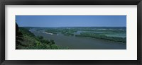 Framed River flowing through a landscape, Mississippi River, Marquette, Prairie Du Chien, Wisconsin-Iowa, USA