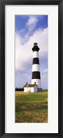 Framed Low angle view of a lighthouse, Bodie Island Lighthouse, Bodie Island, Cape Hatteras National Seashore, North Carolina, USA