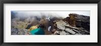 Framed High angle view of a lake, Continental Divide, US Glacier National Park, Montana, USA