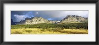 Framed Clouds over mountains, Many Glacier valley, US Glacier National Park, Montana, USA