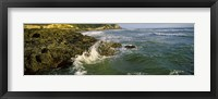 Framed Waves splashing on rocks, Oregon Coast, Oregon, USA