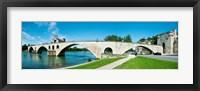 Framed Bridge across a river, Pont Saint-Benezet, Rhone River, Avignon, Vaucluse, Provence-Alpes-Cote d'Azur, France