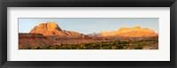 Framed Rock formations on a landscape, Zion National Park, Springdale, Utah, USA