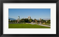Framed Lawn with Salt Lake City Council Hall in the background, Capitol Hill, Salt Lake City, Utah, USA