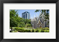 Framed Assembly hall in a city, Salt Lake Assembly Hall, Temple Square, Salt Lake City, Utah, USA