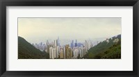 Framed Skyscrapers in a city, Hong Kong, China