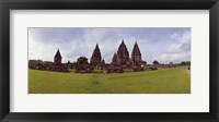Framed 9th century Hindu temple Prambanan on Java Island, Indonesia